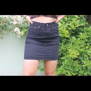 Black denim Levi mini skirt